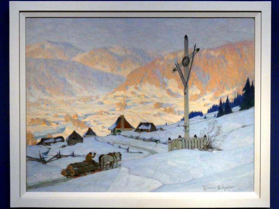 Clarence Gagnon: Das Flurkreuz, Winter, 1916 - 1917