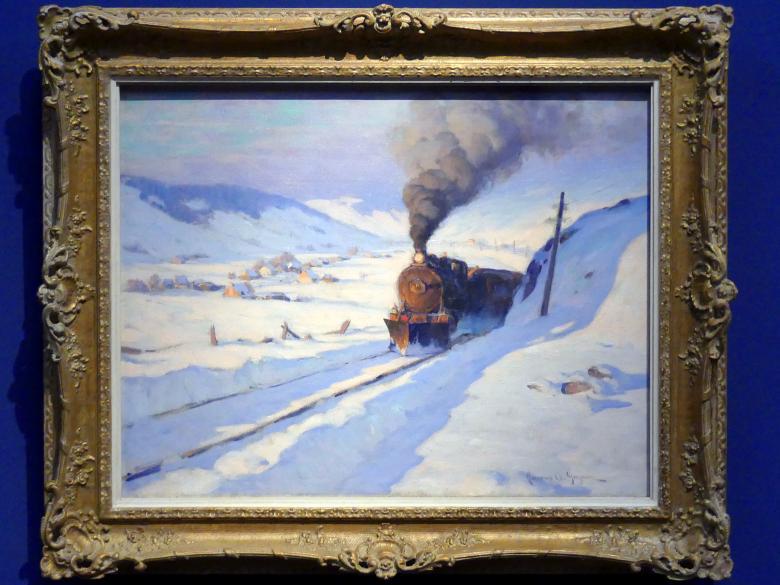 Clarence Gagnon: Der Zug, Winter, um 1913 - 1914