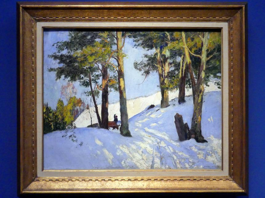Maurice Galbraith Cullen: Baumfällen im WInter, Beaupré, 1896