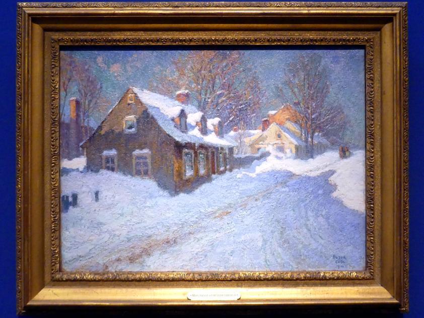 Marc-Aurèle de Foy Suzor-Coté: Straße in einem kanadischen Dorf, Winter, 1910
