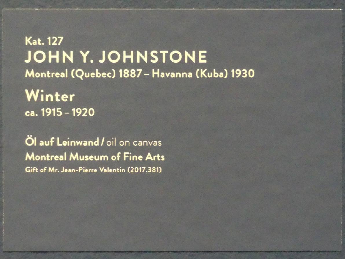 John Y. Johnstone: Winter, um 1915 - 1920, Bild 2/2