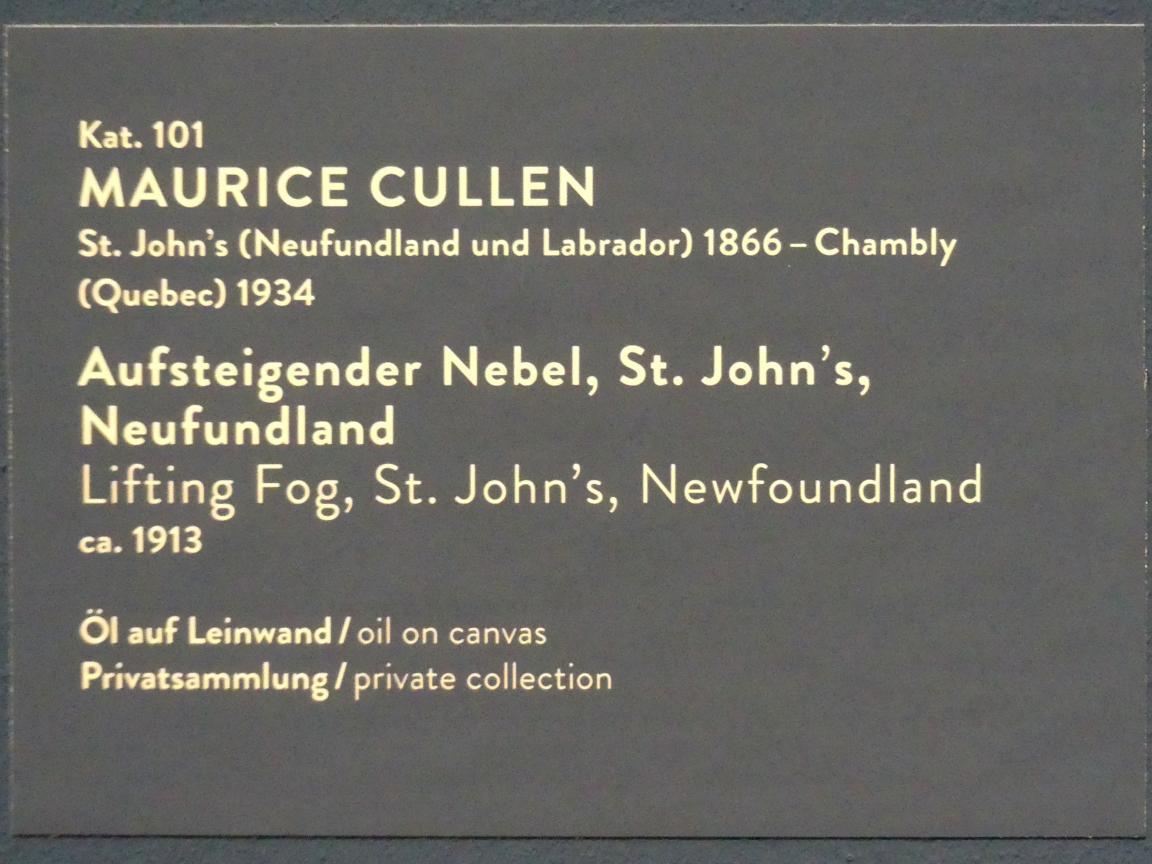 Maurice Galbraith Cullen: Aufsteigender Nebel, St. John's, Neufundland, um 1913, Bild 2/2