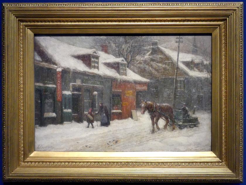 Joseph-Charles Franchère: La rue de Lagauchetière, Um 1914 - 1915