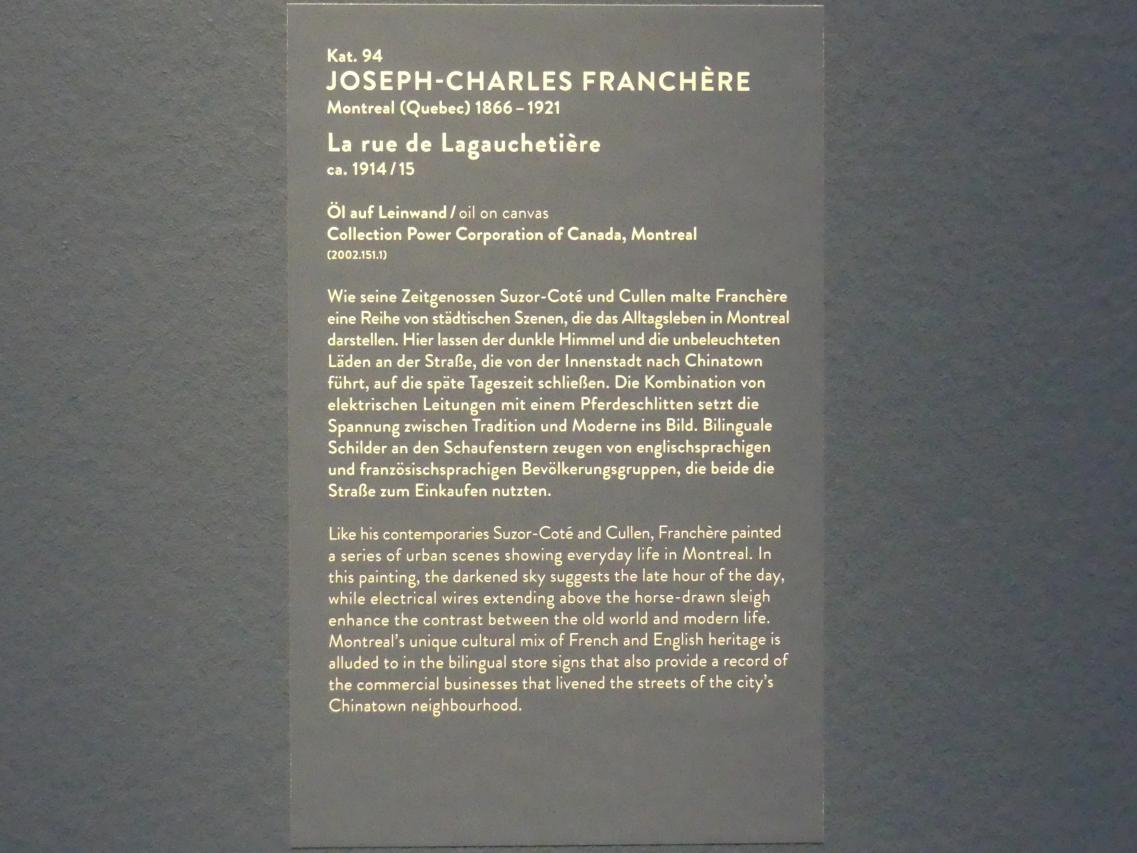 Joseph-Charles Franchère: La rue de Lagauchetière, um 1914 - 1915, Bild 2/2