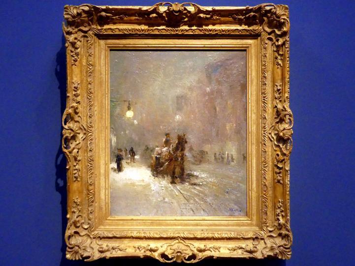 Maurice Galbraith Cullen: Winterabend in der Craig Street, Montreal, 1912