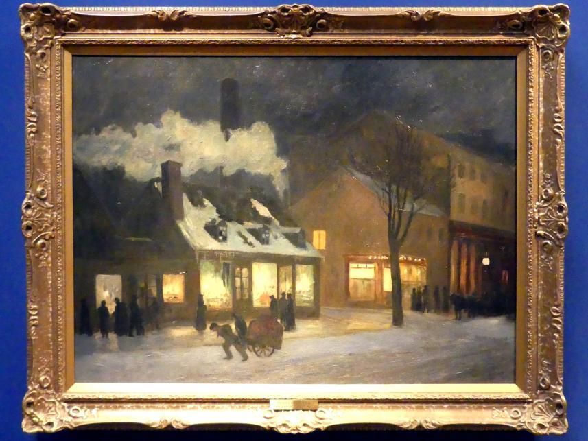 Maurice Galbraith Cullen: Winternacht, Craig Street, Montreal, 1899
