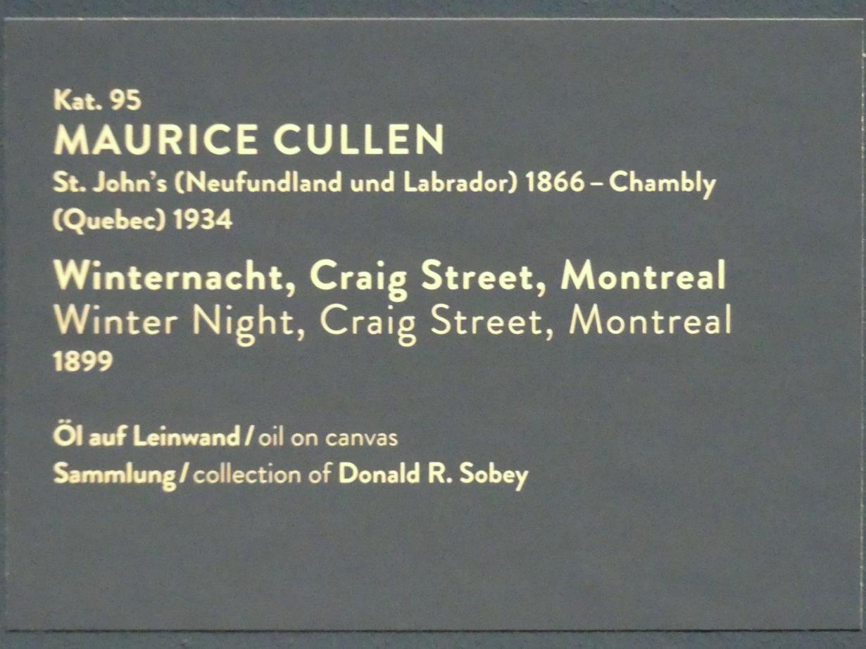 Maurice Galbraith Cullen: Winternacht, Craig Street, Montreal, 1899, Bild 4/4