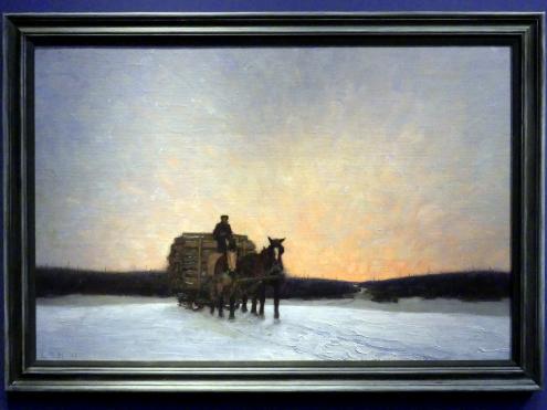 Lawren Stewart Harris: Eine Ladung Zaunpfähle, 1911