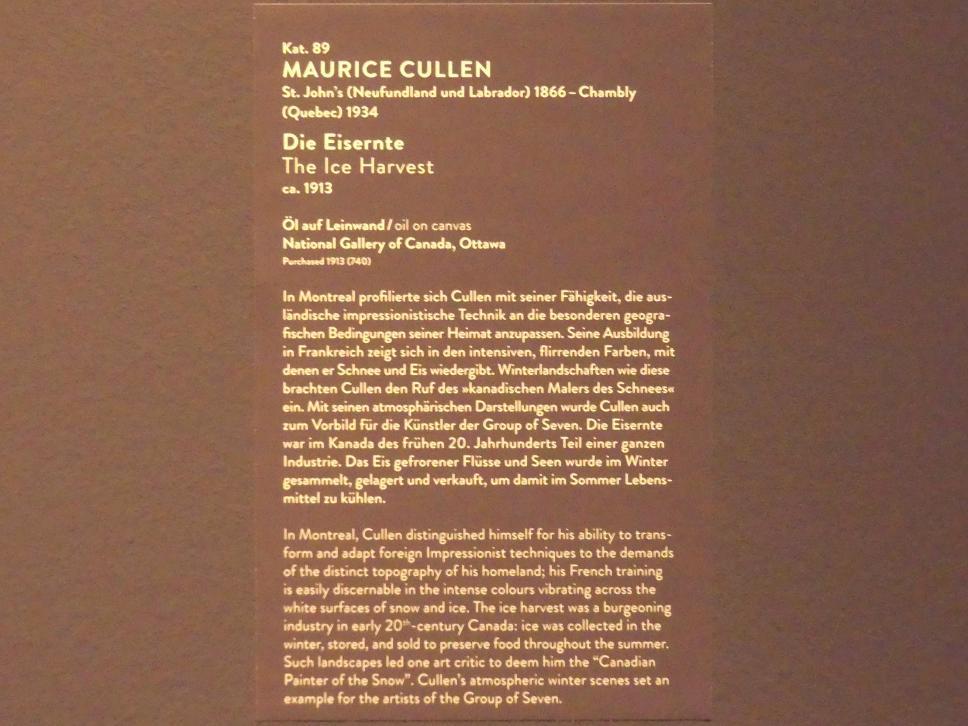 Maurice Galbraith Cullen: Die Eisernte, um 1913, Bild 2/2