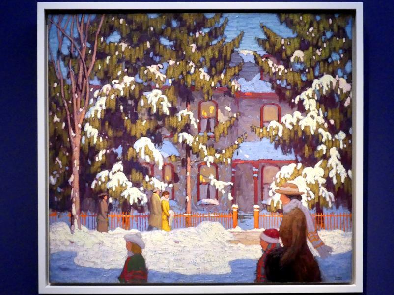 Lawren Stewart Harris: Winternachmittag, City Street, Toronto oder Sonntagmorgen, 1918