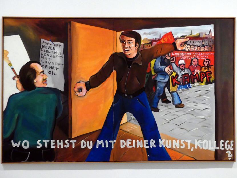 Jörg Immendorff: Wo stehst du mit deiner Kunst, Kollege?, 1973