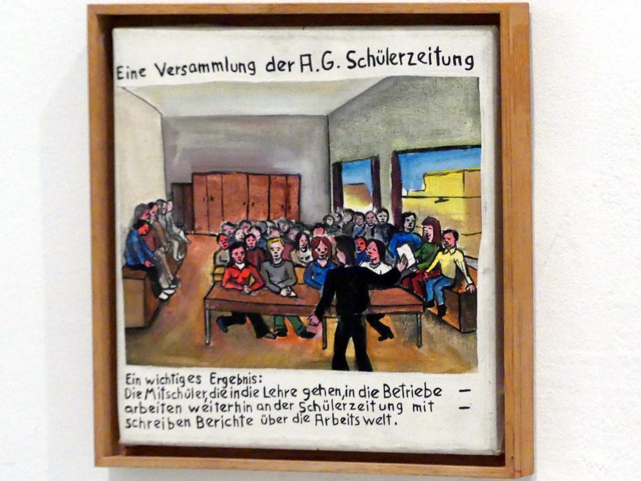 Jörg Immendorff: Eine Versammlung der A.G. Schülerzeitung, 1972