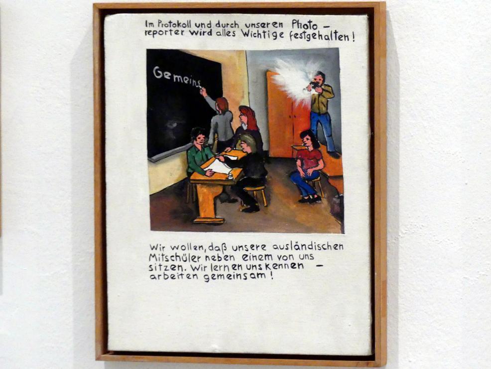 Jörg Immendorff: Im Protokoll und durch unseren Photo-Report wird alles Wichtige festgehalten!, 1972