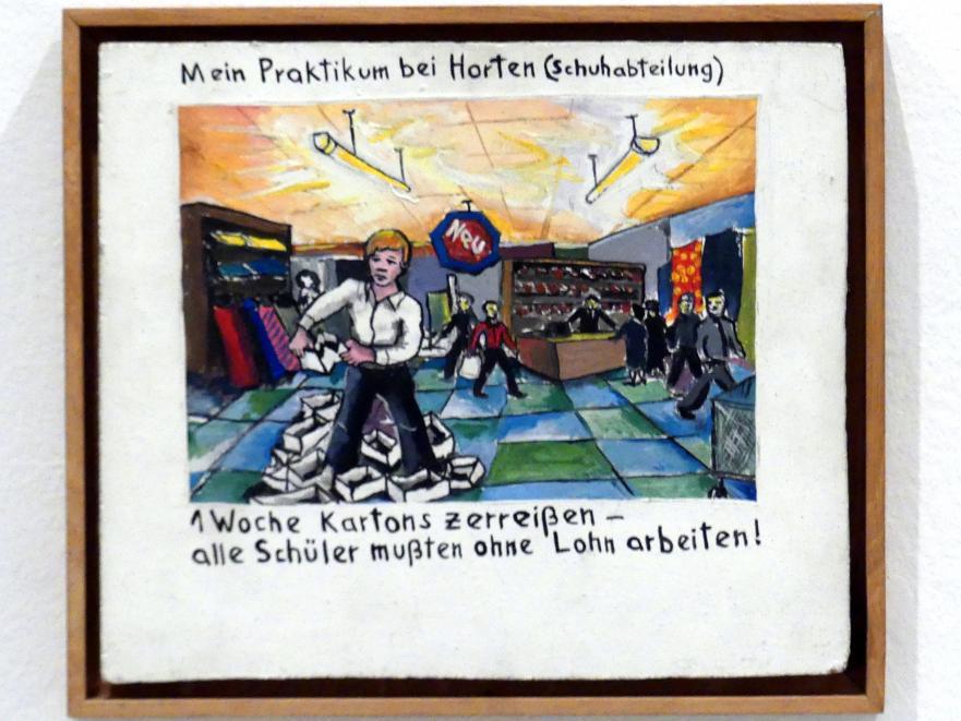 Jörg Immendorff: Mein Praktikum bei Horten (Schuhabteilung), 1972