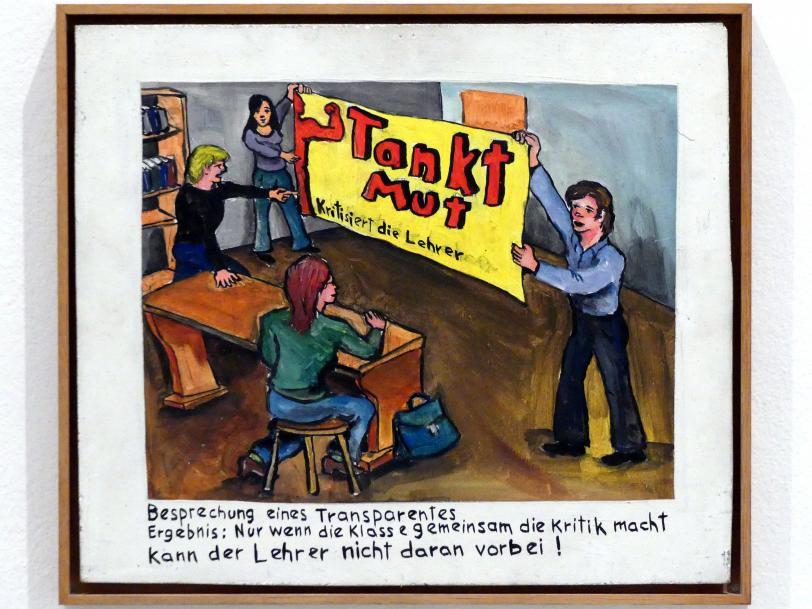 Jörg Immendorff: Besprechung eines Transparents, 1972