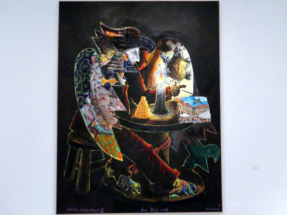 Jörg Immendorff: Letztes Selbstporträt I - Das Bild ruft, 1998