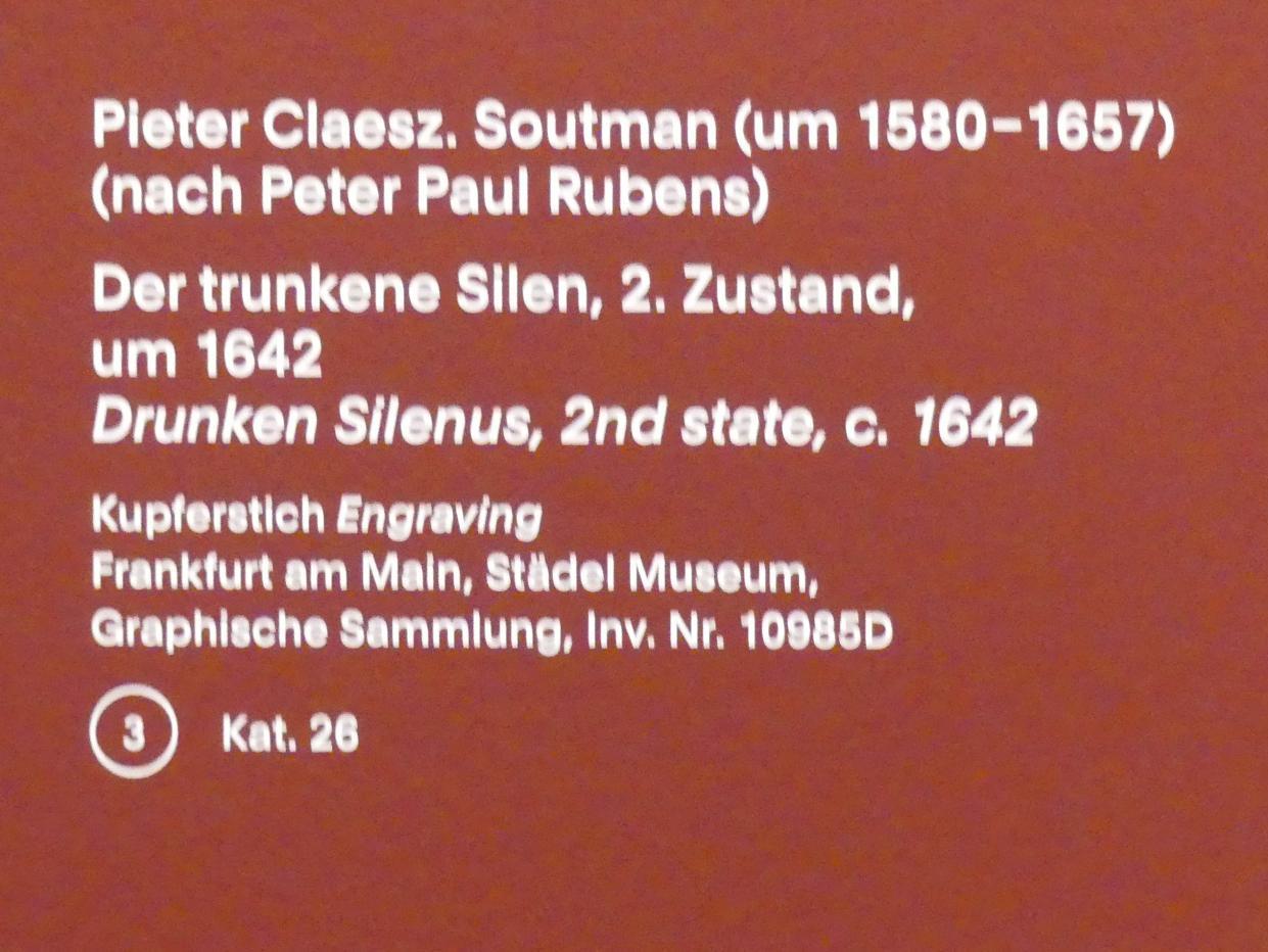 Pieter Claesz. Soutman: Der trunkene Silen, 2. Zustand, um 1642
