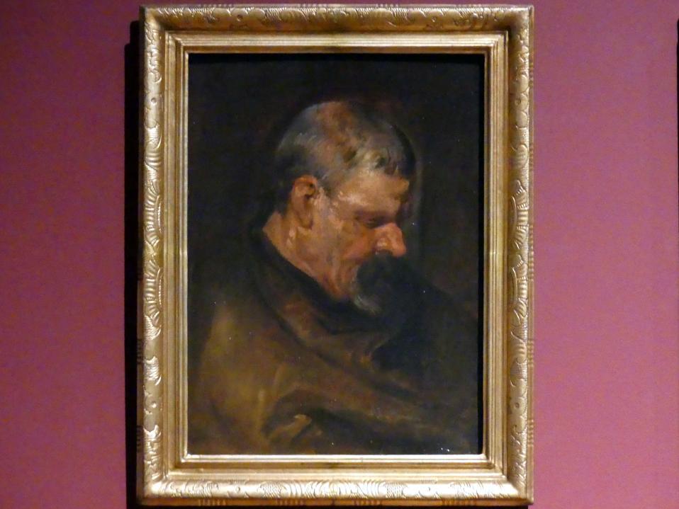 Anthonis (Anton) van Dyck: Studienkopf eines Mannes im Profil nach rechts, um 1616 - 1617