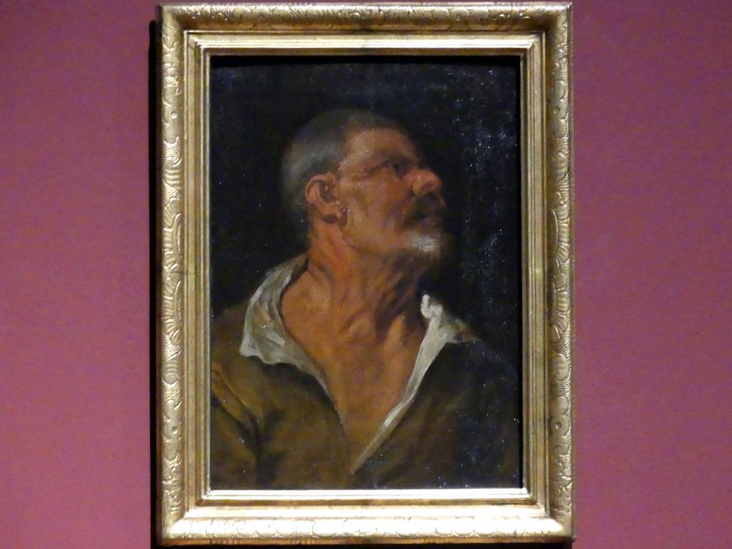 Anthonis (Anton) van Dyck: Studienkopf eines Mannes im Profil, nach rechts blickend, um 1616 - 1617