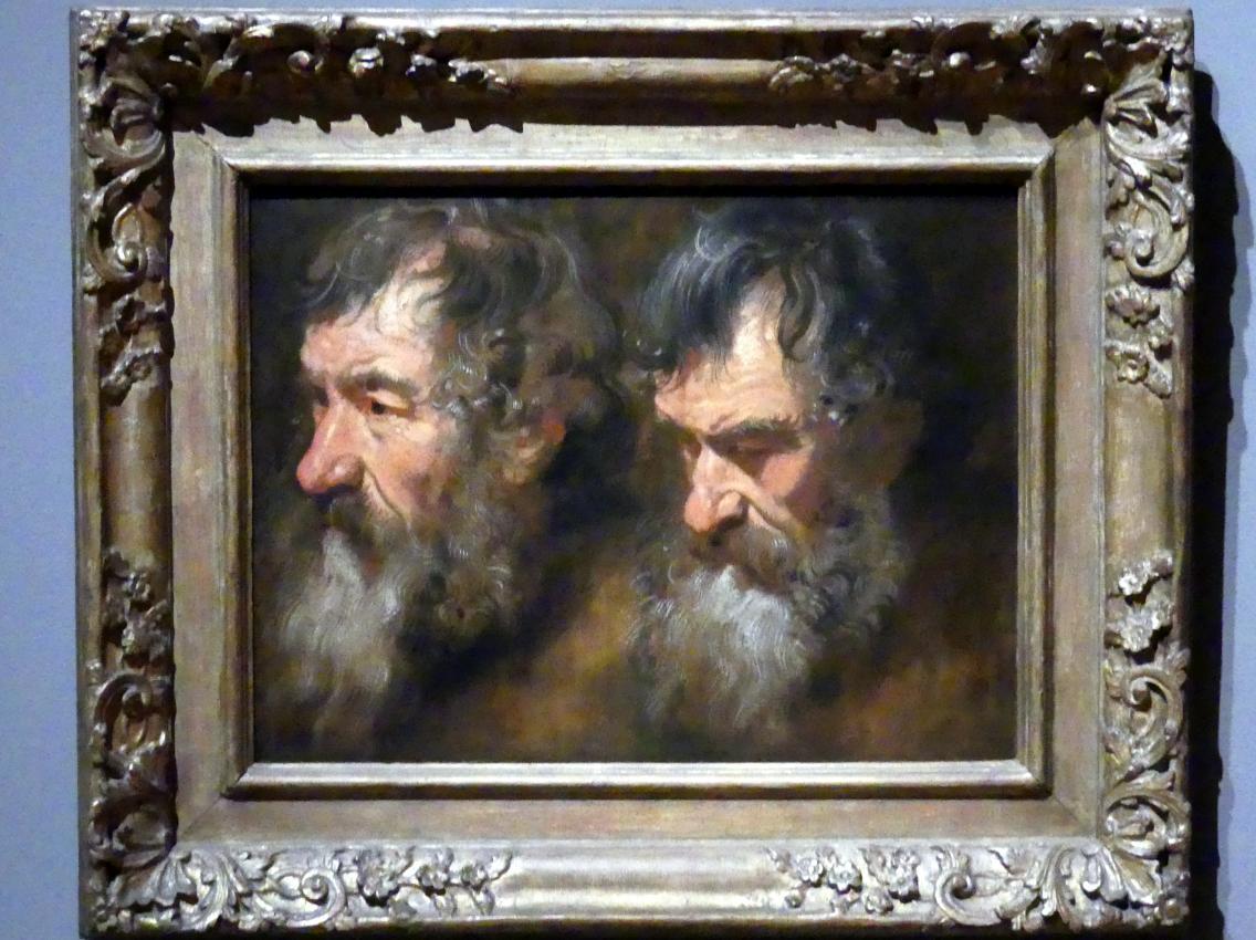 Anthonis (Anton) van Dyck: Zwei Studien eines bärtigen Mannes, um 1616 - 1617