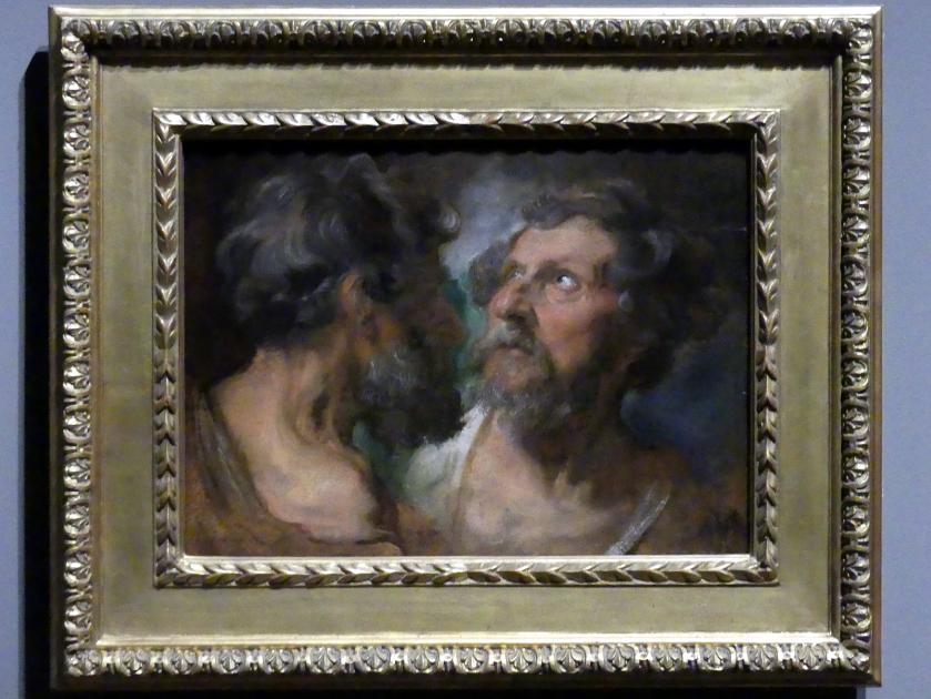 Anthonis (Anton) van Dyck: Zwei Studienköpfe, um 1618 - 1620, Bild 1/2