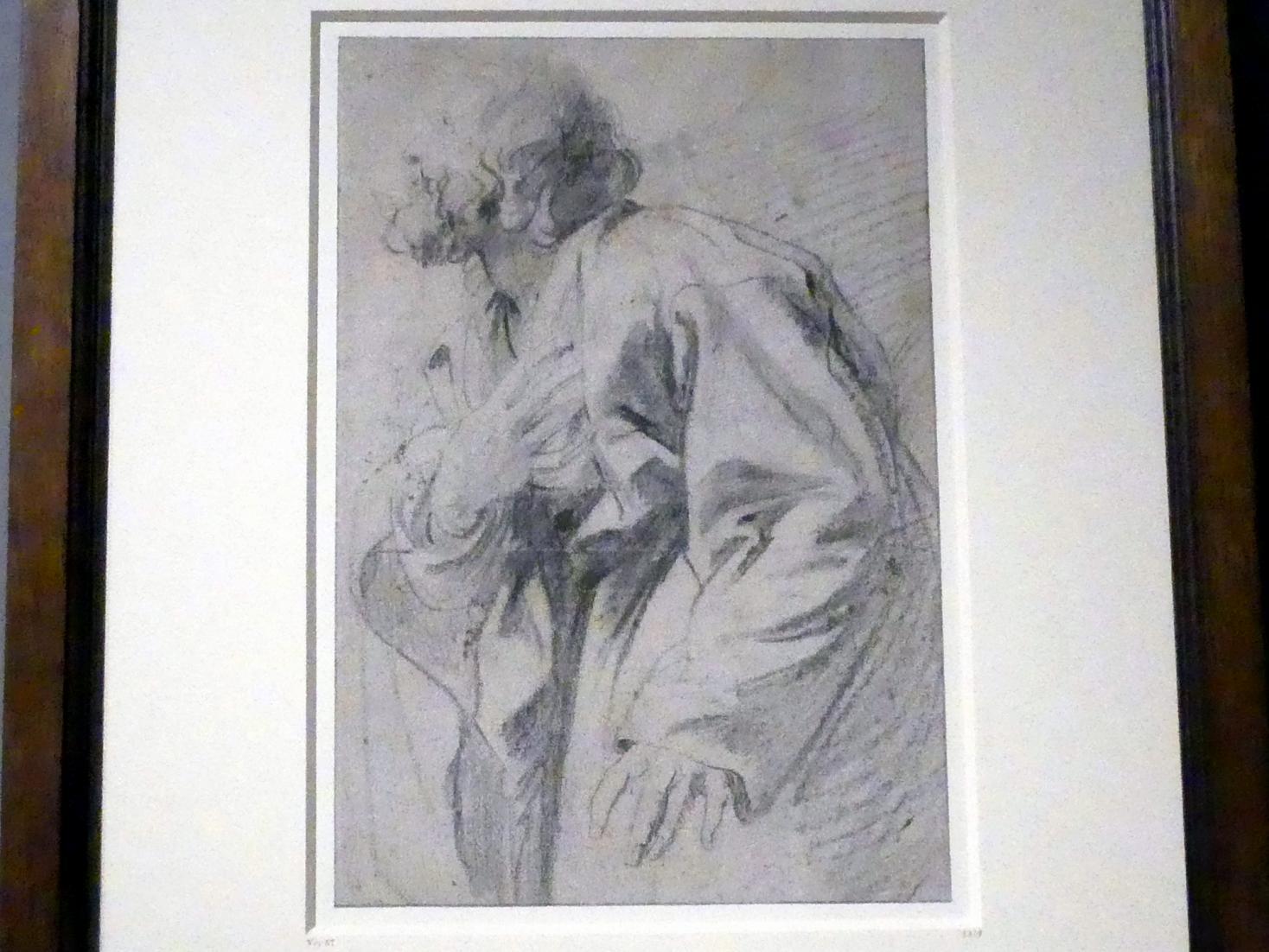 Anthonis (Anton) van Dyck: Studie eines Mannes, mit der Hand auf seine Brust weisend, um 1618 - 1620