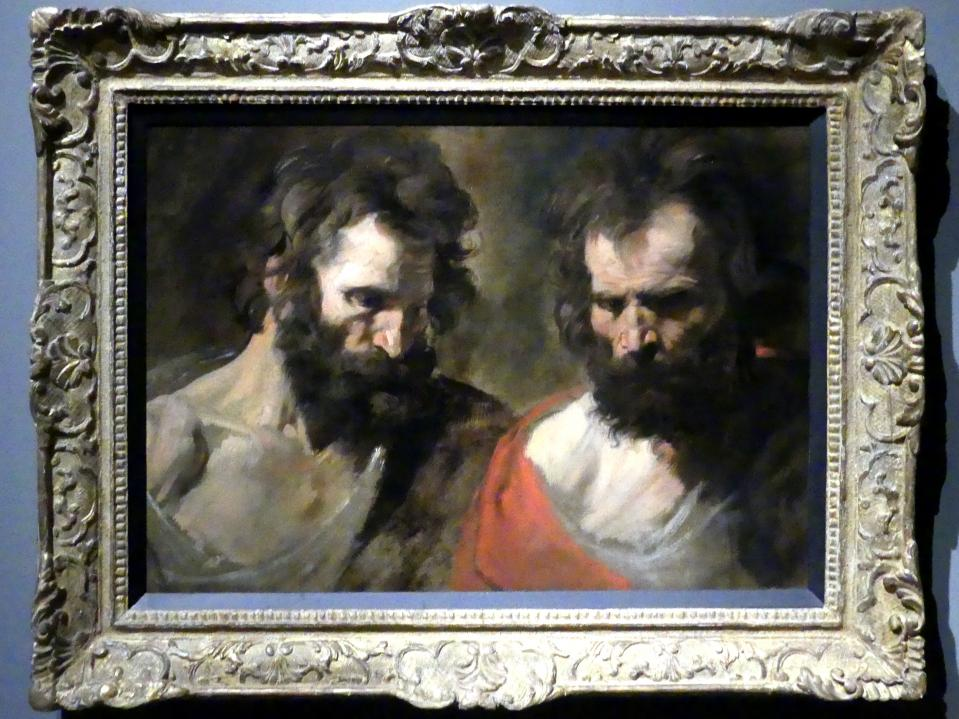 Anthonis (Anton) van Dyck: Zwei Studien eines bärtigen Mannes, um 1618 - 1620