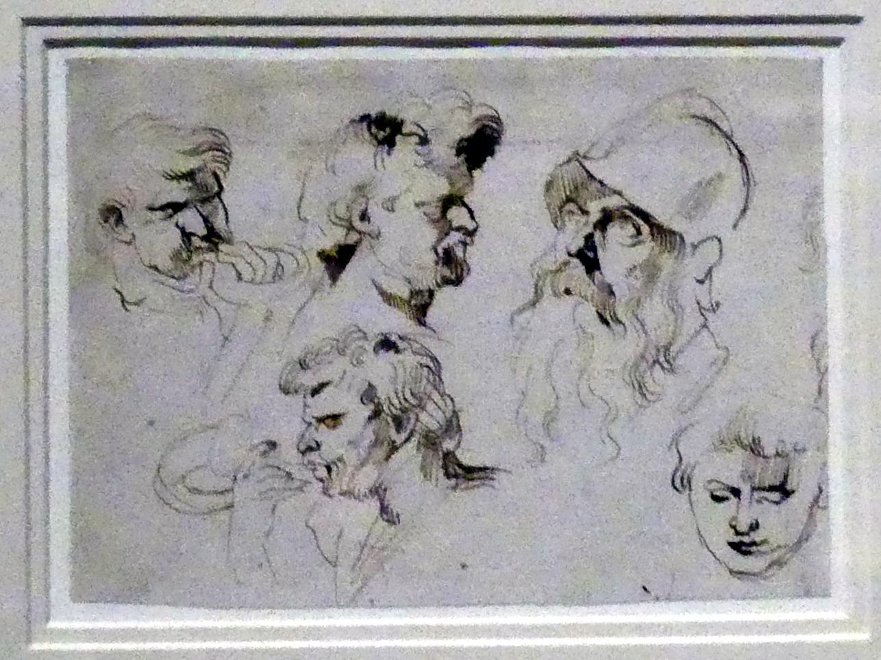 Anthonis (Anton) van Dyck: Fünf Kopfstudien, um 1615 - 1620