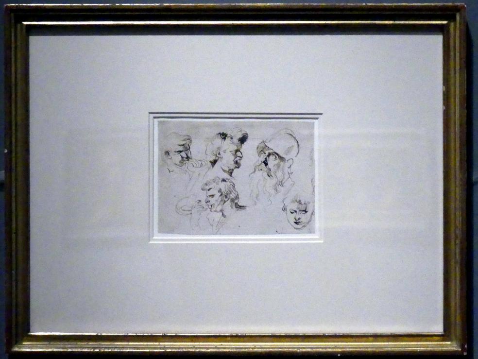 Anthonis (Anton) van Dyck: Fünf Kopfstudien, um 1615 - 1620, Bild 2/3