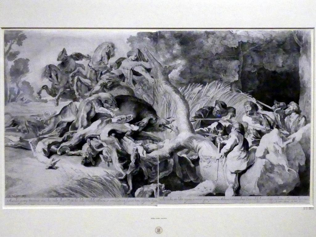 Pieter Claesz. Soutman: Die Eberjagd, 1642