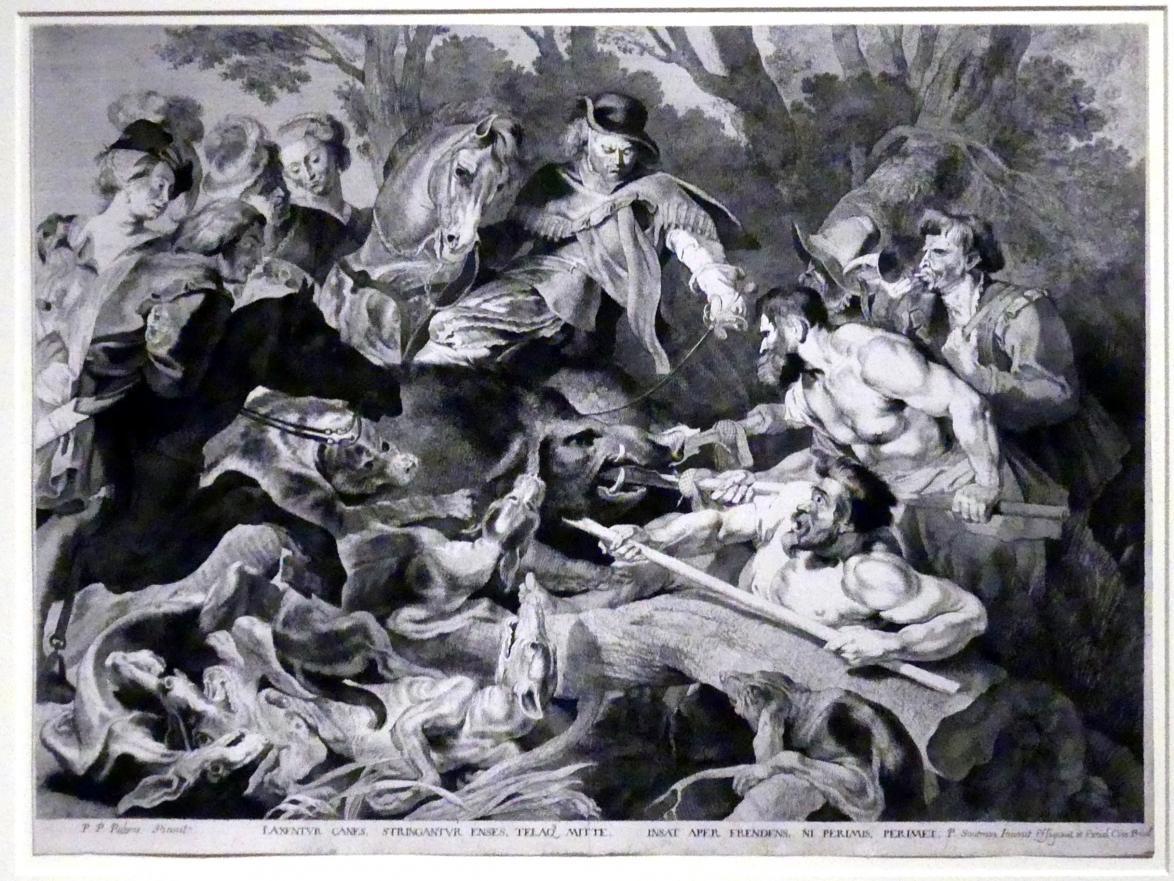 Pieter Claesz. Soutman: Die Eberjagd, um 1642