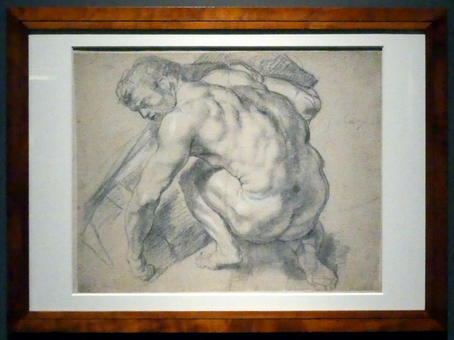 Peter Paul Rubens: Nackter Mann, der einen schweren Gegenstand anhebt, um 1609 - 1610