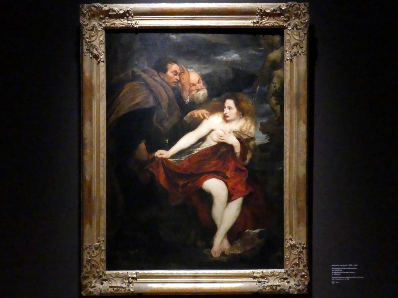 Anthonis (Anton) van Dyck: Susanna und die beiden Alten, Um 1622 - 1623