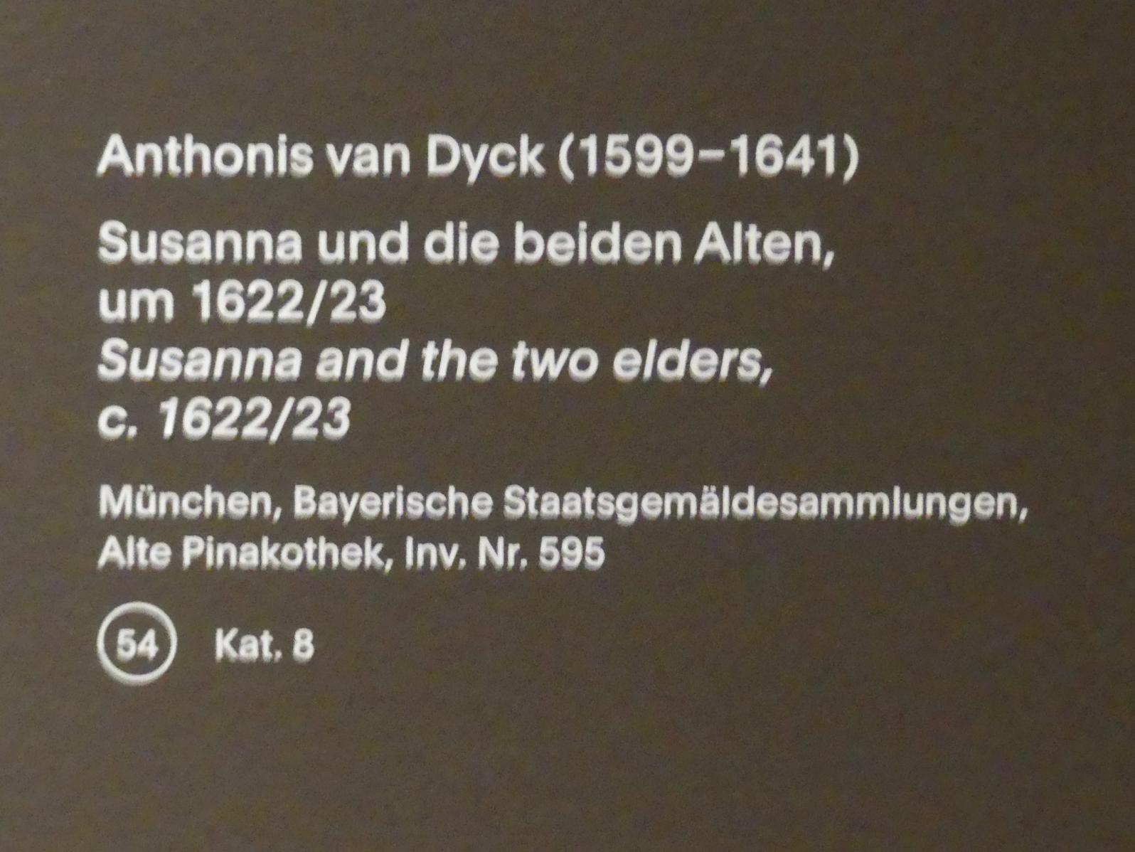 Anthonis (Anton) van Dyck: Susanna und die beiden Alten, um 1622 - 1623, Bild 2/2