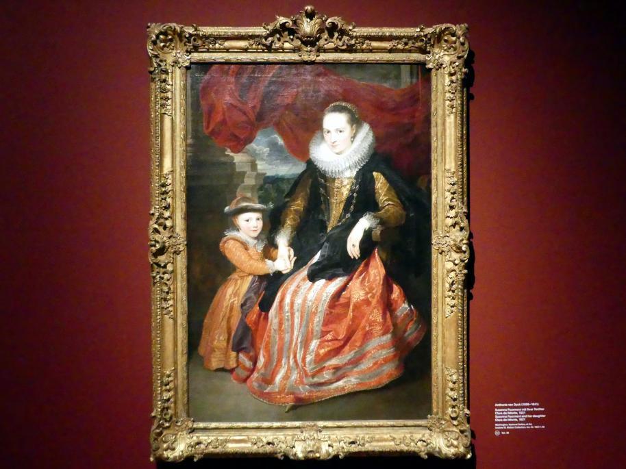 Anthonis (Anton) van Dyck: Susanna Fourment mit ihrer Tochter Clara del Monte, 1621