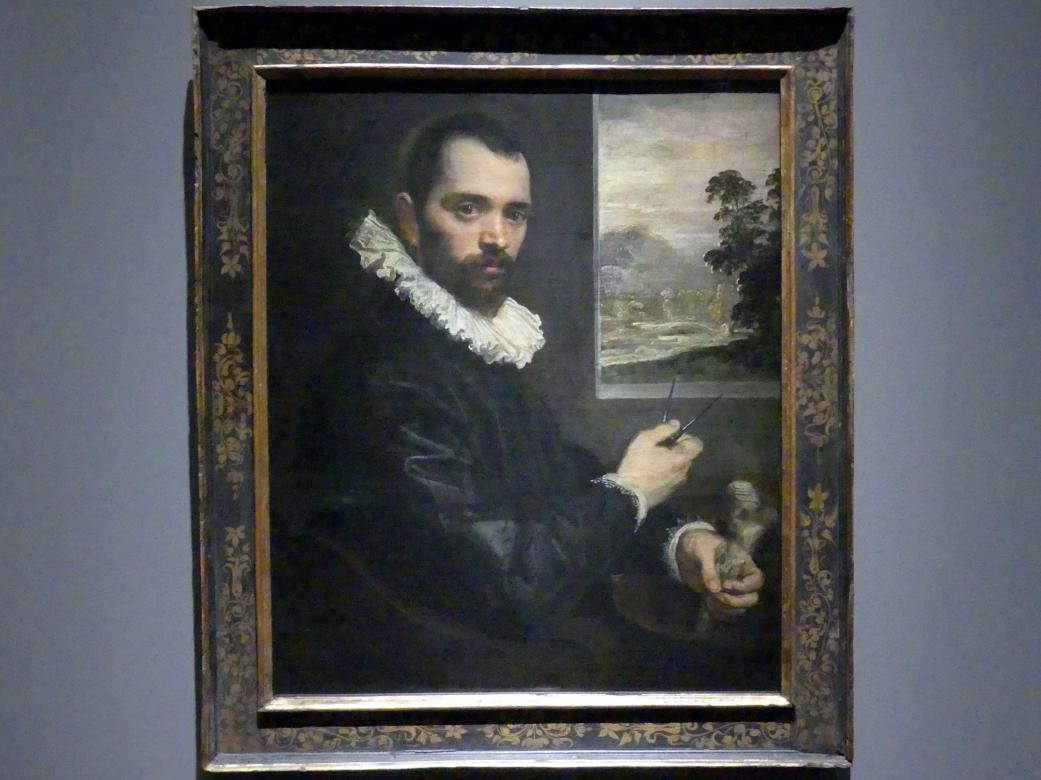 Domenico Tintoretto: Bildnis eines Malers, Um 1590