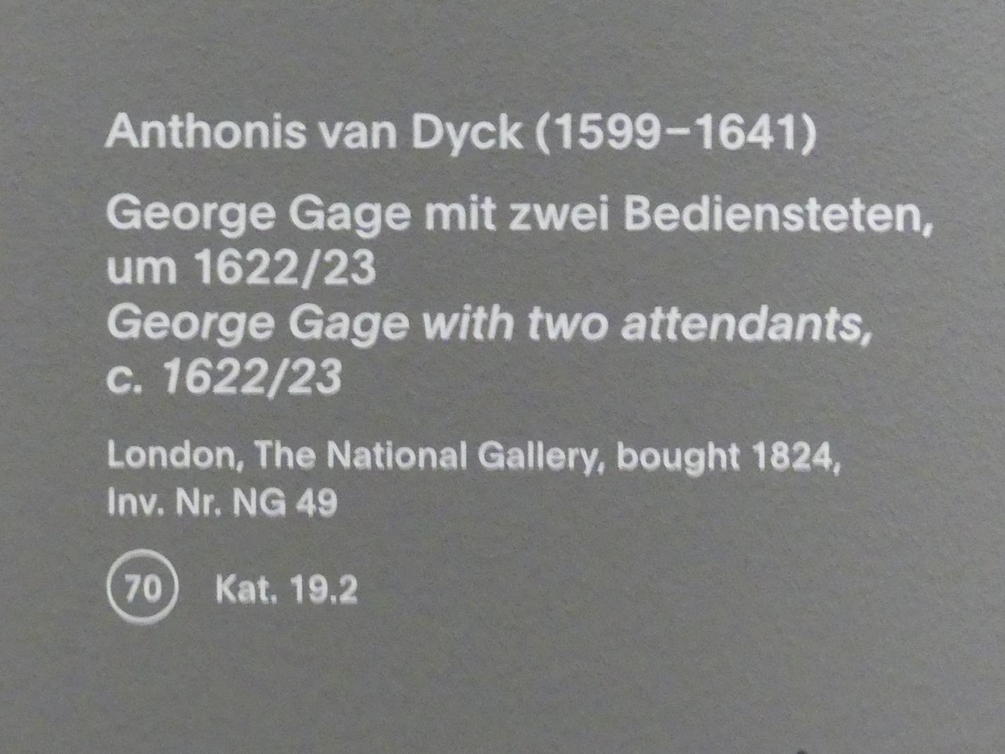 Anthonis (Anton) van Dyck: George Gage mit zwei Bediensteten, um 1622 - 1623, Bild 2/2