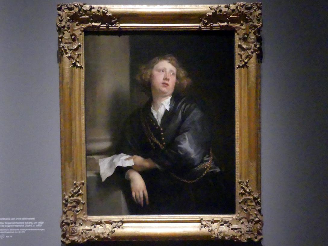 Anthonis (Anton) van Dyck: Der Organisten Hendrik Liberti, Um 1628