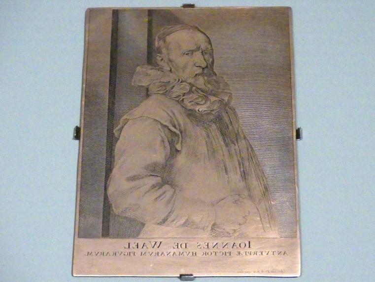 Anthonis (Anton) van Dyck: Jan de Wael, Druckplatte, Um 1627 - 1629