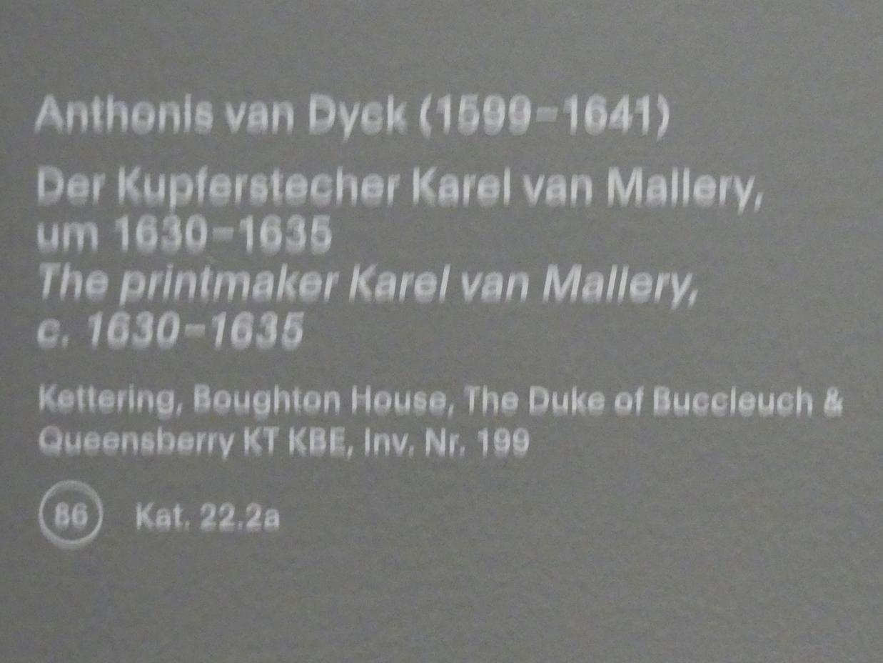 Anthonis (Anton) van Dyck: Der Kupferstecher Karel van Mallery, um 1630 - 1635, Bild 2/2
