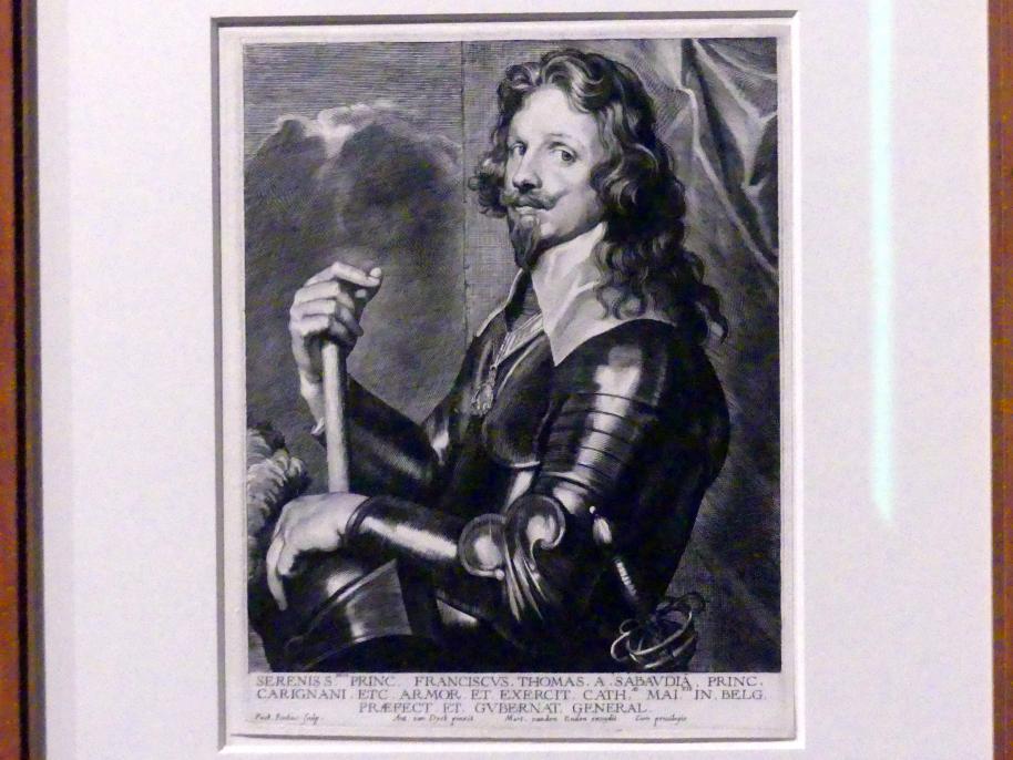 Paulus Pontius: François Thomas von Savoyen-Carignan, 2. Zustand, Undatiert