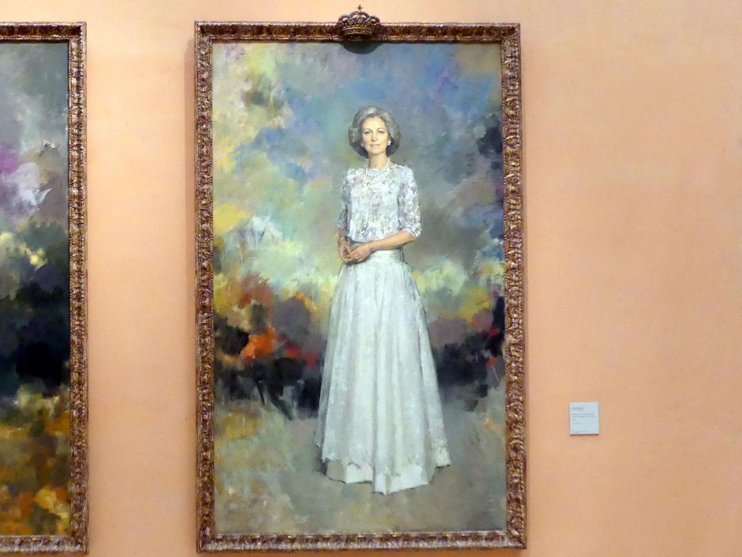 Ricardo Macarrón: Porträt der Königin Sofia von Spanien, 1992