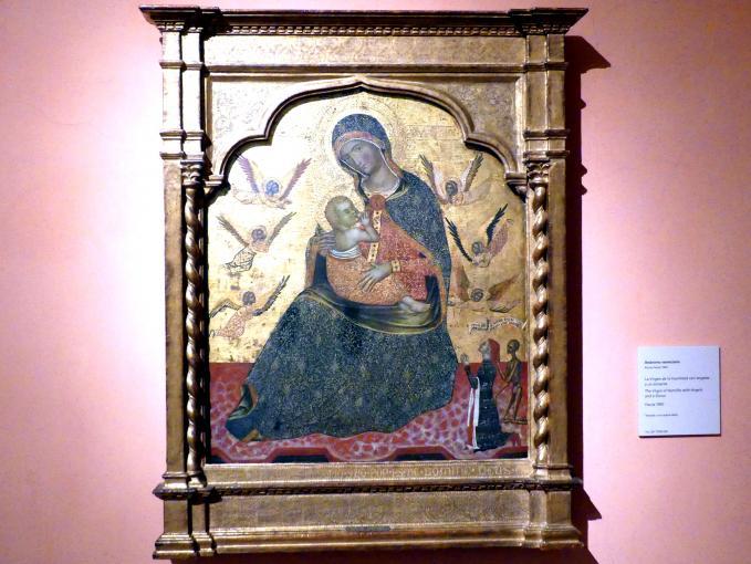 Madonna der Demut mit Engeln und einem Stifter, um 1360