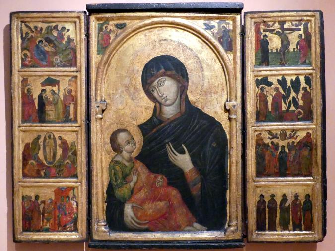 Tryptychon Maria mit Kind, um 1300 - 1310