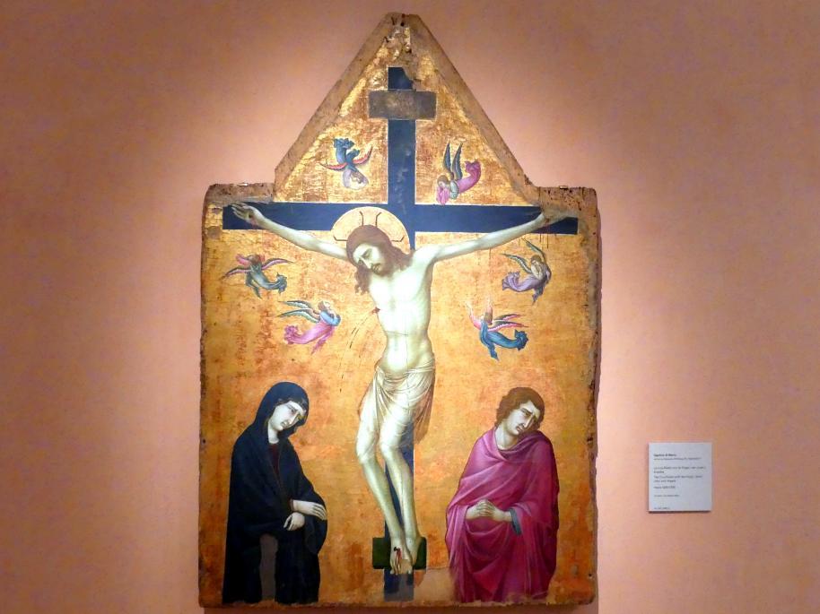 Ugolino di Nerio: Kreuzigung mit der Jungfrau, dem Heiligen Johannes und Engeln, um 1330 - 1335