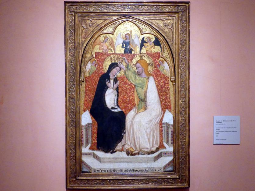 Meister von 1355: Marienkrönung mit fünf Engeln, 1355