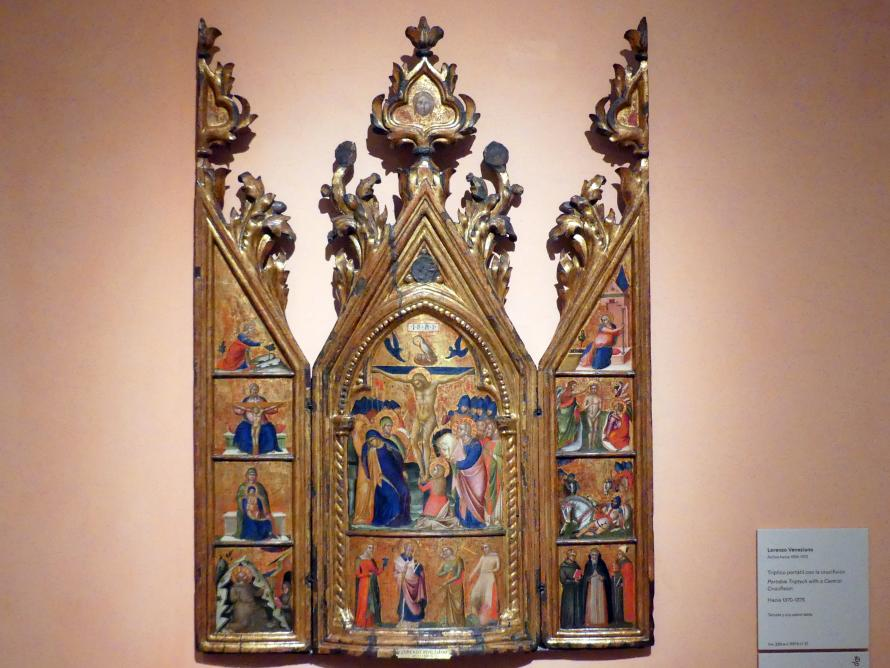 Lorenzo Veneziano: Reisetriptychon mit Kreuzigung, um 1370 - 1375