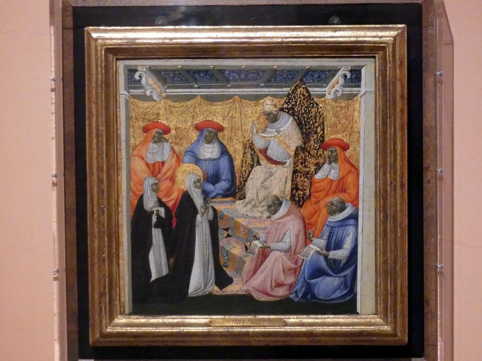 Giovanni di Paolo: Heilige Katharina von Siena vor dem Papst in Avignon, um 1460 - 1463