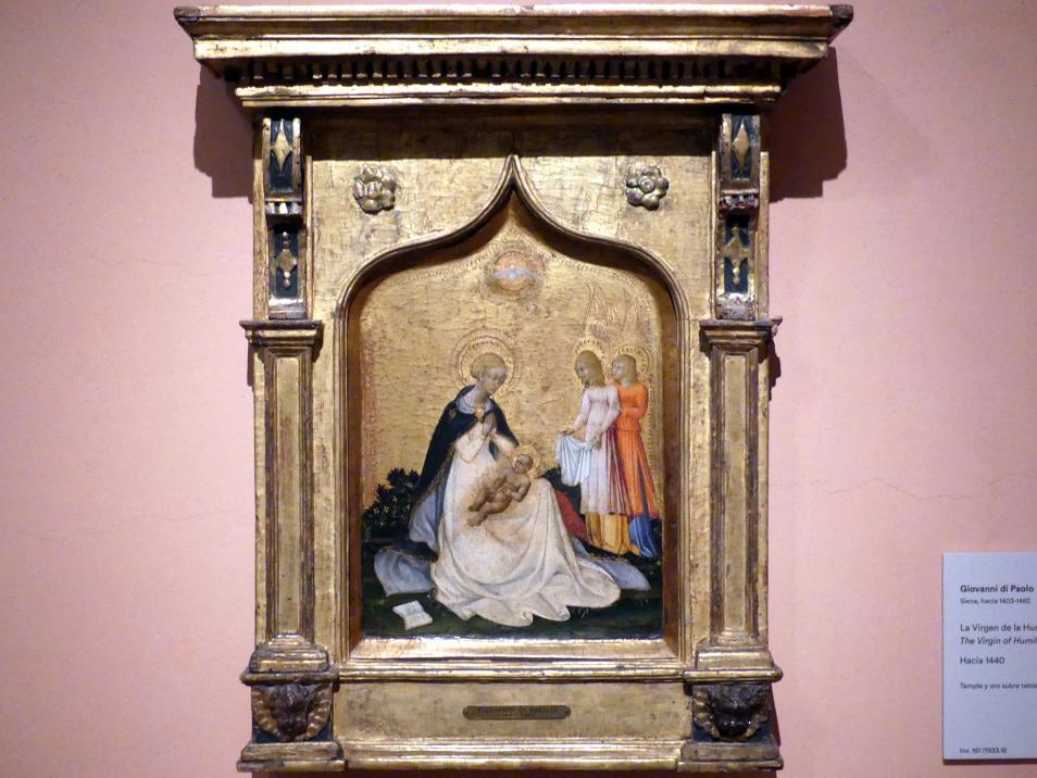Giovanni di Paolo: Madonna der Demut, um 1440