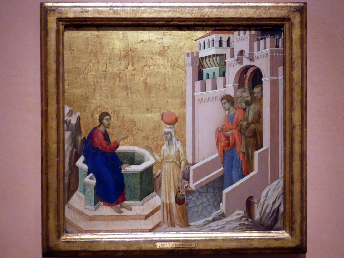 Duccio di Buoninsegna: Christus und die Samariterin, 1310 - 1311